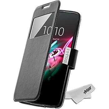 Housse, Etui folio à fenêtre pour Alcatel One Touch Idol 3 (5,5) - Noir