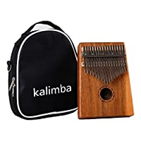 LAYOPO 17 Keys Kalimba Thumb Piano, 8 Pack Finger Piano Solid Acacia Wood Body With Instruction&Tune Hammer&Carry Bag&Key Stickers For Children Adults Christmas Thanksgiving Birthday Present Gifts
