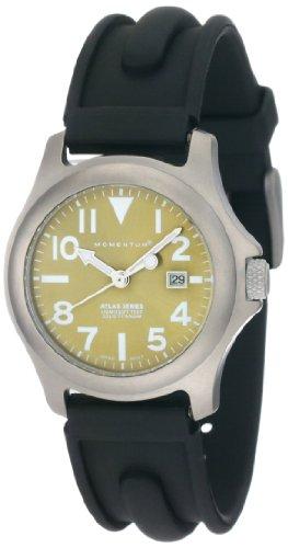 Momentum Ladies 1M-Sp01G1 Atlas Green Dial Black Slk Rubber Watch