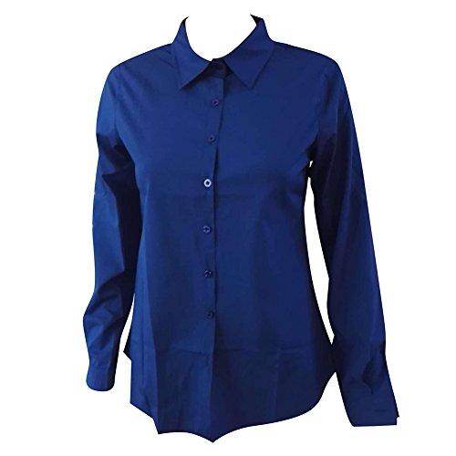 Femmes Chemises Manches Longues Tops Boutons Mode Chemises Automne Blouses T-shirts Décontractée Bureau Dames Chemises Travail Affaires Quotidien Blanc Noir Rose Rouge Bleu S-2XL hibote Bleu Foncé