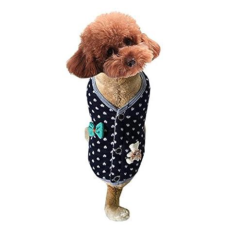 Vêtements mignons pour chien Love Bear Bear Rabbit Pet Dog Vest LNAG , s