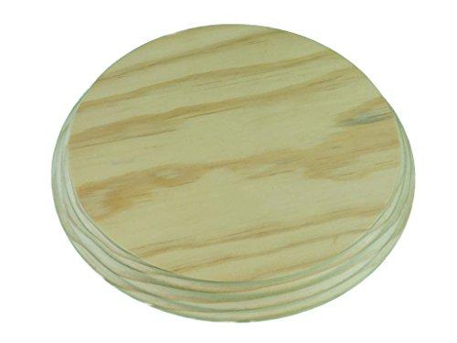 Peana madera circular. En madera de pino macizo, torneado. En crudo, se puede pintar. (Diámetro 20 cms)
