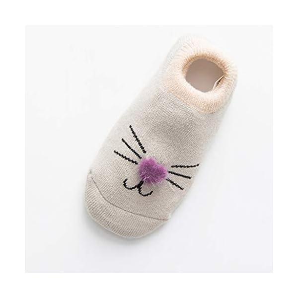 ZOOMY Baby Girls Boys Calcetines Antideslizantes para niños pequeños con agarres Calcetín de Piso de Dibujos Animados… 2