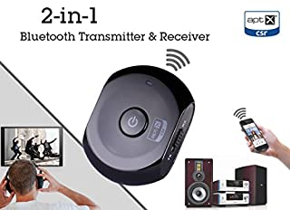 Avantree Saturn Wireless Bluetooth Audio / music Adapter Transmitter and Receiver 2-in-1 with aptX audio codec for high quality sound, support iPhone, iPod, iPad, iPhone 6, iPhone 6 plus, Tablets and other Bluetooth enabled devices, non-Bluetooth MP3/MP4 (B00B12WGNU) | Amazon price tracker / tracking, Amazon price history charts, Amazon price watches, Amazon price drop alerts