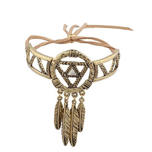 LUX accesorios Burnish oro Atrapasueños Navajo pulsera