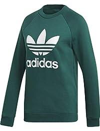 adidas Originals Sweatshirt Damen Trefoil Crew Sweat DV2623 Grün, Size 36 f7141c6d11