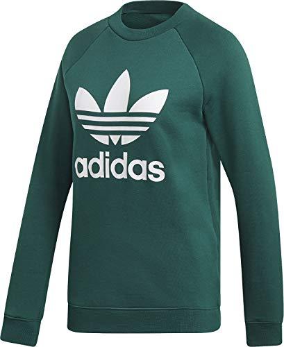 adidas Damen Trefoil Crewneck Sweatshirt Collegiate Green 48 Crewneck Damen-sweatshirt