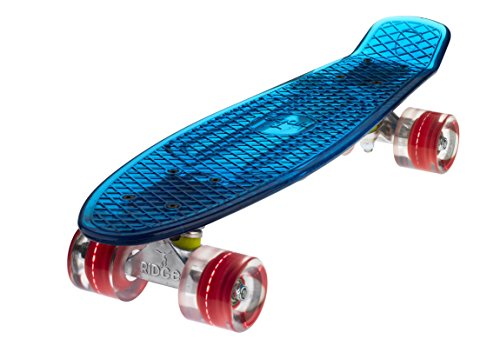 Ridge Skateboard Blaze Mini Cruiser, Blau/Rot, 55 Cm