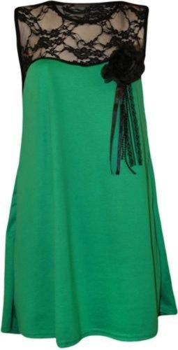 Nouveau Femmes Plus Size langue américaine Robe tunique 44-54 green