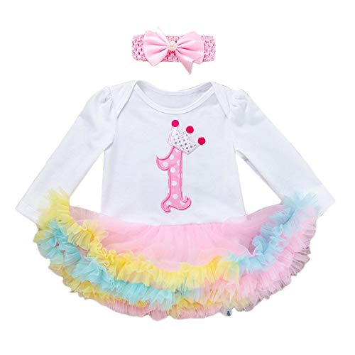 5172a0d0a FAMILIZO Camiseta Bebe Recién Nacidos Bebé Niñas De 1Er Cumpleaños Trajes  Tutú Vestido + Diadema Conjunto