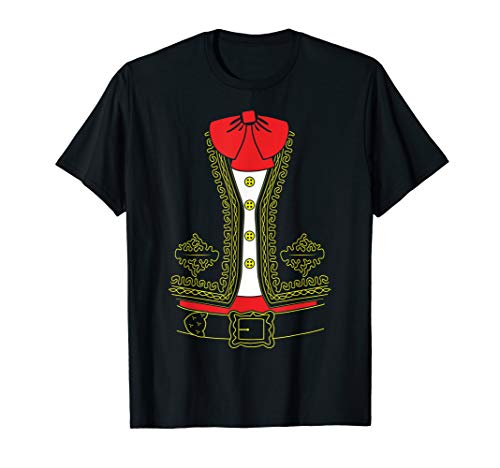 Mariachi Costume Shirt Mexico Halloween Mexican Men Boys  T-Shirt