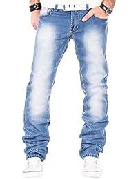 Kosmo lupo jean pour homme délavé bleu vintage clubwear slim bleu, tailles 37 à 48 & l34/l32