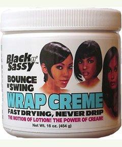 Black n Sassy Bounce N Swing Wrap Creme