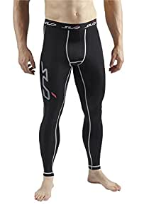 Sub Sports Dual Men's Compression Baselayer Leggings - Black, Small