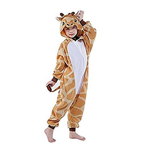 Kostüme Giraffe Kinder Für (Rainbow Fox Kinder Giraffe Kostüme Einhorn Pyjama Tier Nachtwäsche Karikatur Cosplay Kleider zum Kinder (XS,)