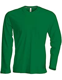 Kariban - Herren Langarm Rundhals T-Shirt / Kelly Green, 3XL