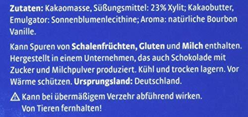 Xucker zuckerfreie Schokolade mit Xylit, Edelbitter, 5 x 100g Tafel - 4