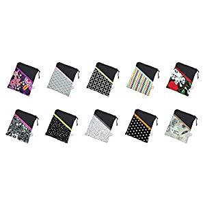 Werde selbst zum Designer: schwarze eReader Tasche mit Stoff-/Farbauswahl eBook Reader Tablet Hülle, Maßanfertigung bis max. 10,9