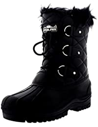 ec0cdabee0dd Polarr Polar Womens Short Snow Winter Tactical Mountain Waterproof Hiker  Mid Calf Walking Boot