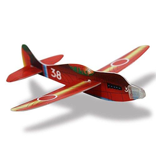 Preisvergleich Produktbild 48 x HC-Handel 910593 Styropor Flieger Flugzeug 18 cm verschieden Ausführungen