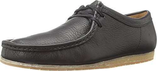 CLARKS Men's Wallabee Step Black Leather Oxford 11 D (M) Clarks Wallabee Oxford