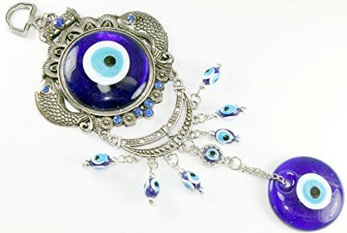 Carpa peces turco azul mal de ojo amuleto colgante de pared protección decoración para el hogar bendición regalo US Vendedor (gp9632)
