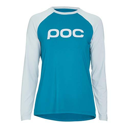 POC Damen Essential MTB W's Jersey, Antimony Blue/Oxolane Grey, LRG -