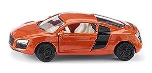 SIKU Audi R8 Preassembled Coche Deportivo - Modelos de vehículos de Tierra (Preassembled, Audi R8, Coche Deportivo, De plástico, Rojo, Plata)