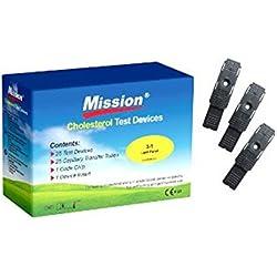 Tiras de prueba Colesterol (25 Pzas.) para la Mission 3-en-1 Medidor de Colesterol?