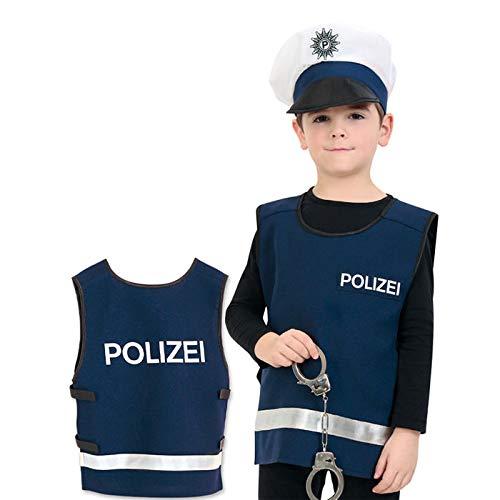 der-Kostüm Polizei Weste, blau, Gr. 128 ()