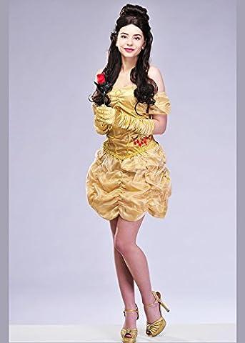 Womens Belle Style Prinzessin Kostüm Medium (UK 12-14) (Belle Von Schöne Und Das Biest Kostüm Für Erwachsene)