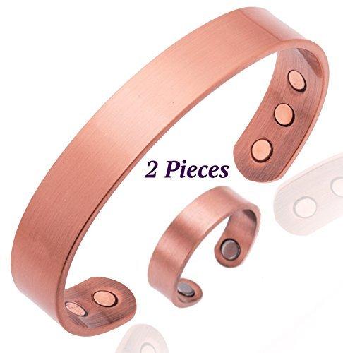 copper-bracelet-for-arthritis-magnetic-men-or-women-plus-finger-ring-with-magnets