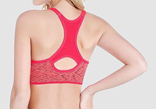 Cliont reggiseno sportivo di allenamento e palestra Yoga imbottito esecuzione Jogging Esercizio Fitness Sport Bra per le donne Rosso