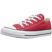 Converse Chuck Taylor All Star Core Ox, Zapatillas Infantil, Blanco-Rojo, 33 EU