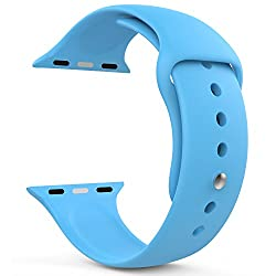 MoKo 3312026 Soft Silicone Replacement Sports Band for 38mm Apple Watch (Blue)
