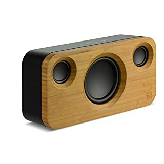 KitSound Soul 2 Wooden Portable Rechargeable Wireless Bluetooth Sound System Compatible with Smartphones, Tablets and MP3 Devices - Bamboo/Black