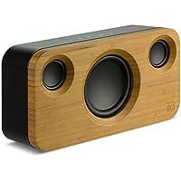 KitSound Soul 2 Haut Parleur Bluetooth CompAtible avec les Smartphones, Tablettes et Lecteurs MP3 - Bambou/Noir