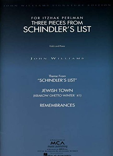 Three Pieces from Schindler's List Violin and Piano: 3 Pieces for Violin and Piano