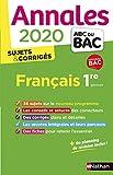 Annales ABC du Bac 2020 Français 1re...