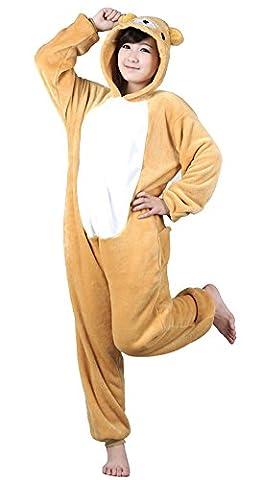 Rilakkuma Costume Pajama - tonwhar® Mignon Ours déguisement pyjama Combinaison Halloween
