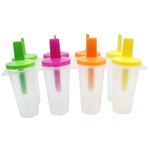 happyquda Pop Popsicle Form Tablett Pfanne Küche Frozen 8Zellen Lolliform Ice Cream Maker