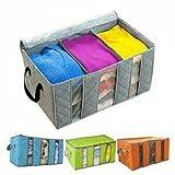 #3: Saiyam Foldable Bamboo Bag Home Closet Storage Bag Organizer Box Anti-bacterial Clothes Finishing Bag
