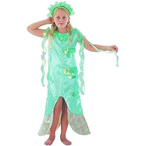Disfraz infantil de niña de Sirena. 6 - 9 años