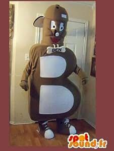 Mascotte SpotSound Amazon personnalisable en forme de lettre B, déguisement alphabet