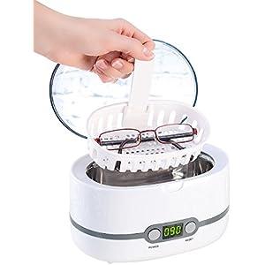 newgen medicals Ultraschallgerät Schmuck: Digital-Ultraschallreiniger, Einlegekorb, für Brillen & Schmuck, 50 W (Ultraschallreinigungsgerät)