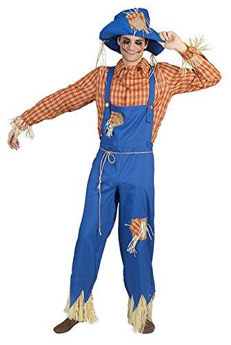 Fancy Ole - Herren Männer Halloween Karnevals-Kostüm Set Gärtner, Vogelscheuche, XL, (Kostüm Scary Vogelscheuche)