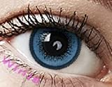 freshtone ft-13bl Farbige Kontaktlinsen Jahreslinsen blau Blue Cutie-Serie ohne Stärke Cosplay LINSEN, große Augen