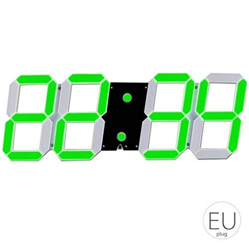 Ben-gi LED Skeleton Hohlwand- Wecker Multi-Funktions-Timer 24/12 Stunden-Anzeige elektronische Digitaluhr mit Fernbedienung -