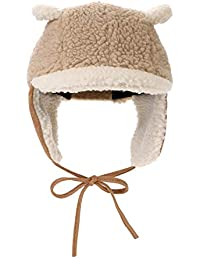 ITODA Bonnet Chaud Enfant Unisexe en Velours Chapka Velours Chapeau d hiver  Chaud Epais Coupe-Vent Protection… 36c5ae6e135