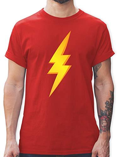 Blitz Herren Kostüm - Karneval & Fasching - Blitz Kostüm - S - Rot - L190 - Herren T-Shirt und Männer Tshirt